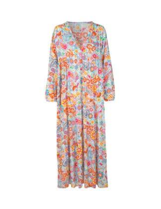 PEACE TIE DYE kjole rosagrå Soulful Culture